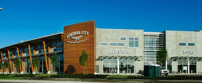 Central City Brewing's brewery and beer shop